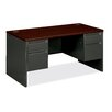 "HON 38000 Series 60"" W Double Pedestal Executive Desk"