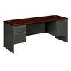 HON 38000 Series Executive Desk with Pedestal