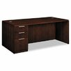 HON Arrive Single Computer Desk with 3 Drawer