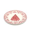 Old Britain Castles Pink Christmas Dinner Plate