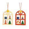 Christian Ulbricht Advent Windows Ornament (Set of 2)