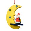<strong>Christian Ulbricht</strong> Santa by Yellow Moon and Blue Stars Ornament