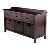 Winsome Adriana 4 Piece Storage Bench Set