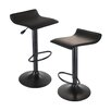 Winsome Obsidian Adjustable Height Swivel Bar Stool (Set of 2)