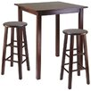 <strong>Winsome</strong> Parkland 3 Piece Counter Height Pub Table Set