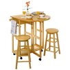 Basics Round Breakfast Bar w/ 2 Stools