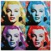 Metal Art Studio 'Marilyn Monroe' Colorful Urban Pop Art Wall Clock