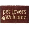 <strong>Entryways</strong> Sweet Home Pet Lovers Welcome Doormat