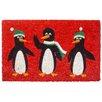 Entryways Penguins Non Slip Coir Doormat