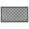 Entryways Circle Chains Recycled Rubber Doormat