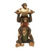 Bombay Heritage Stacking Monkey Service End Table