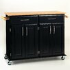 Dolly Madison Kitchen Cart with Wood Top