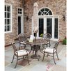 <strong>Home Styles</strong> Floral Blossom 5 Piece Dining Set with Umbrella