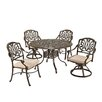 <strong>Home Styles</strong> Floral Blossom 5 Piece Dining Set with Cushions