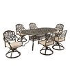 <strong>Floral Blossom 7 Piece Dining Set with Cushions</strong> by Home Styles