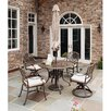 Home Styles Floral Blossom 5 Piece Dining Set with Umbrella