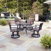 Home Styles Stone Harbor 5 Piece Dining Set with Newport Swivel Chairs