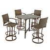 Home Styles Urban Outdoor 5 Piece Bar Height Dining Set
