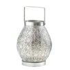 Zingz & Thingz Eastern Medallion Silver Candle Lantern