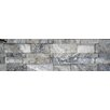 Faber Silver Wall Cladding Cubic Travertine Random Sized Honed Mosaic in Silver and Gray