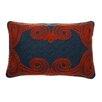 Vanderbloom Red Crewl Linen Pillow