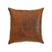 The Pillow Collection Jazzy Plain Faux Leather Throw Pillow
