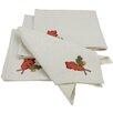 Xia Home Fashions Harvest Vine Crewel Embroidered Harvest Square Napkin (Set of 4)