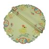 Xia Home Fashions Spring Baby Chicks Round Doily (Set of 4)