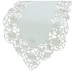 <strong>Xia Home Fashions</strong> Daisy Lace Embroidered Cutwork Table Runner