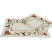 <strong>Xia Home Fashions</strong> Harvest Vine Crewel Embroidered Harvest Placemat (Set of 4)