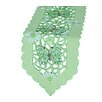 <strong>Xia Home Fashions</strong> Emerald Mariposa Embroidered Cutwork Table Runner