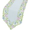 Xia Home Fashions Butterfly Minuet Embroidered Cutwork Table Runner