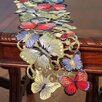Xia Home Fashions Butterflies Mini Table Runner