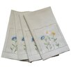 Xia Home Fashions Spring Field Embroidered Cutwork Tea Towel (Set of 4)