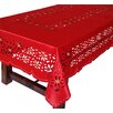 Xia Home Fashions Holiday Star Embroidered Cutwork Tablecloth