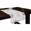 Xia Home Fashions Rose Design Embroidered Cutwork Table Runner