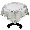 Xia Home Fashions Splendid Meadow Embroidered Cutwork Table Topper