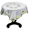 Xia Home Fashions Spring Tulip Embroidered Cutwork Table Topper