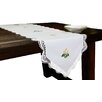 Xia Home Fashions Handmade Crochet with Embroidery Flowers Table Runner