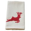Xia Home Fashions Reindeer Crewel Embroidery Holiday Tea Towel