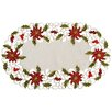 Xia Home Fashions Poinsettia Lace Embroidered Cutwork Placemat (Set of 4)