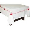 Xia Home Fashions Santa's Sleigh with Bells and Reindeer Crewel Embroidery Holiday Tablecloth