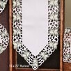 Xia Home Fashions Tannenbaum Embroidered Cutwork Holiday Runner