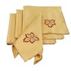 <strong>Xia Home Fashions</strong> Bountiful Leaf Embroidered Cutwork Harvest Napkin (Set of 4)