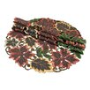 <strong>Xia Home Fashions</strong> Dainty Leaf Embroidered Cutwork Harvest Placemat (Set of 4)