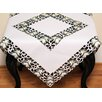 Xia Home Fashions Tannenbaum Embroidered Cutwork Holiday Table Topper