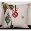 <strong>Xia Home Fashions</strong> Noel Ornaments Embroidered Holiday Pillow