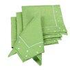 Xia Home Fashions Polka Dot Embroidered Easy Care Napkin (Set of 4)