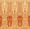 Pasargad Ikat Beige/Rust Transitional Decorative Rug