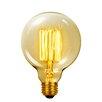 Globe Electric Company Vintage Edison 60 Watt (2700K) G40 Vanity Tungsten Incandescent Filament Light Bulb
